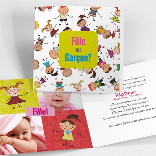 Exceptionnel Faire-part de naissance fille | Naissance.boutique IL41