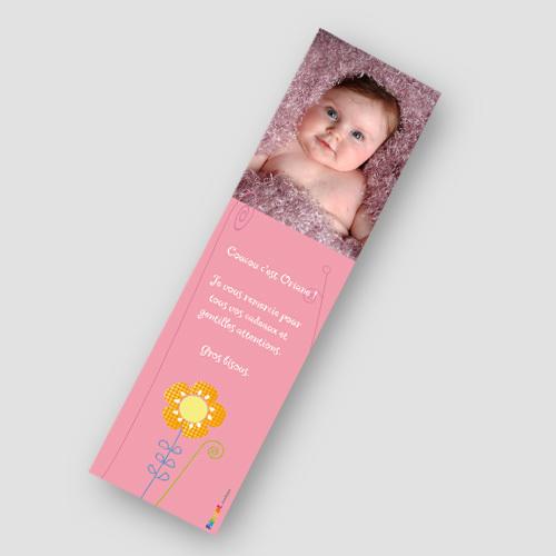Beliebt Imprimer vos marques-pages de naissance personnalisés GH87