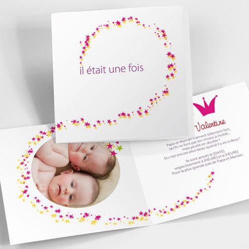 Favori Faire-part de naissance jumeaux | Naissance.boutique WR85